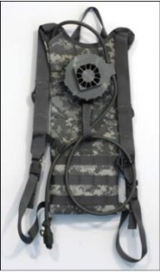 Creare's individual beverage chiller mounts on a hydration pack to cool drinking water on demand to promote healthy hydration for soldiers and marines.