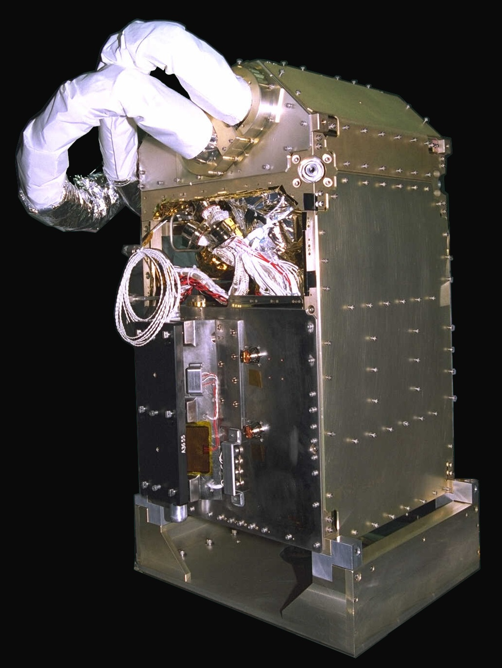 The NICMOS cryocooler packaged for installation on the Hubble Space Telescope.